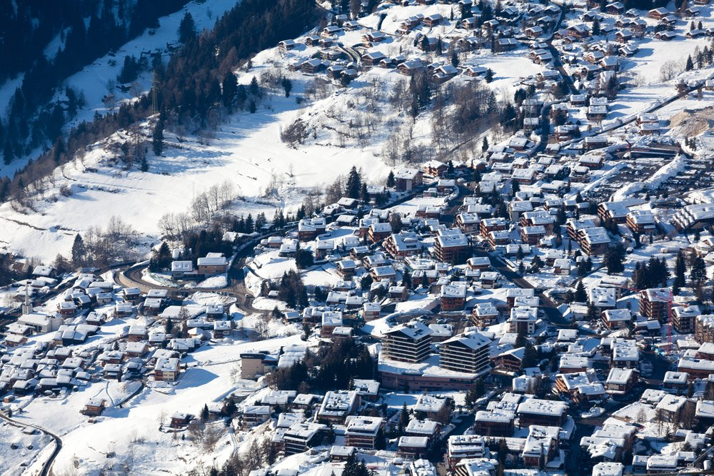 Verbier luxury helicopter