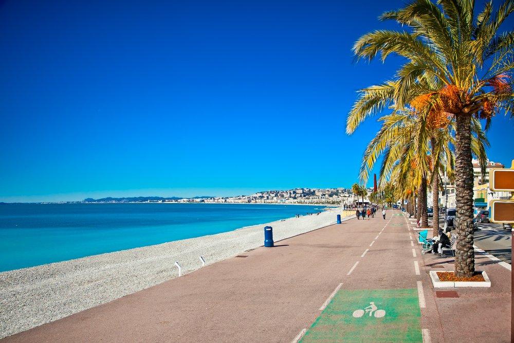 Nice, France, beach